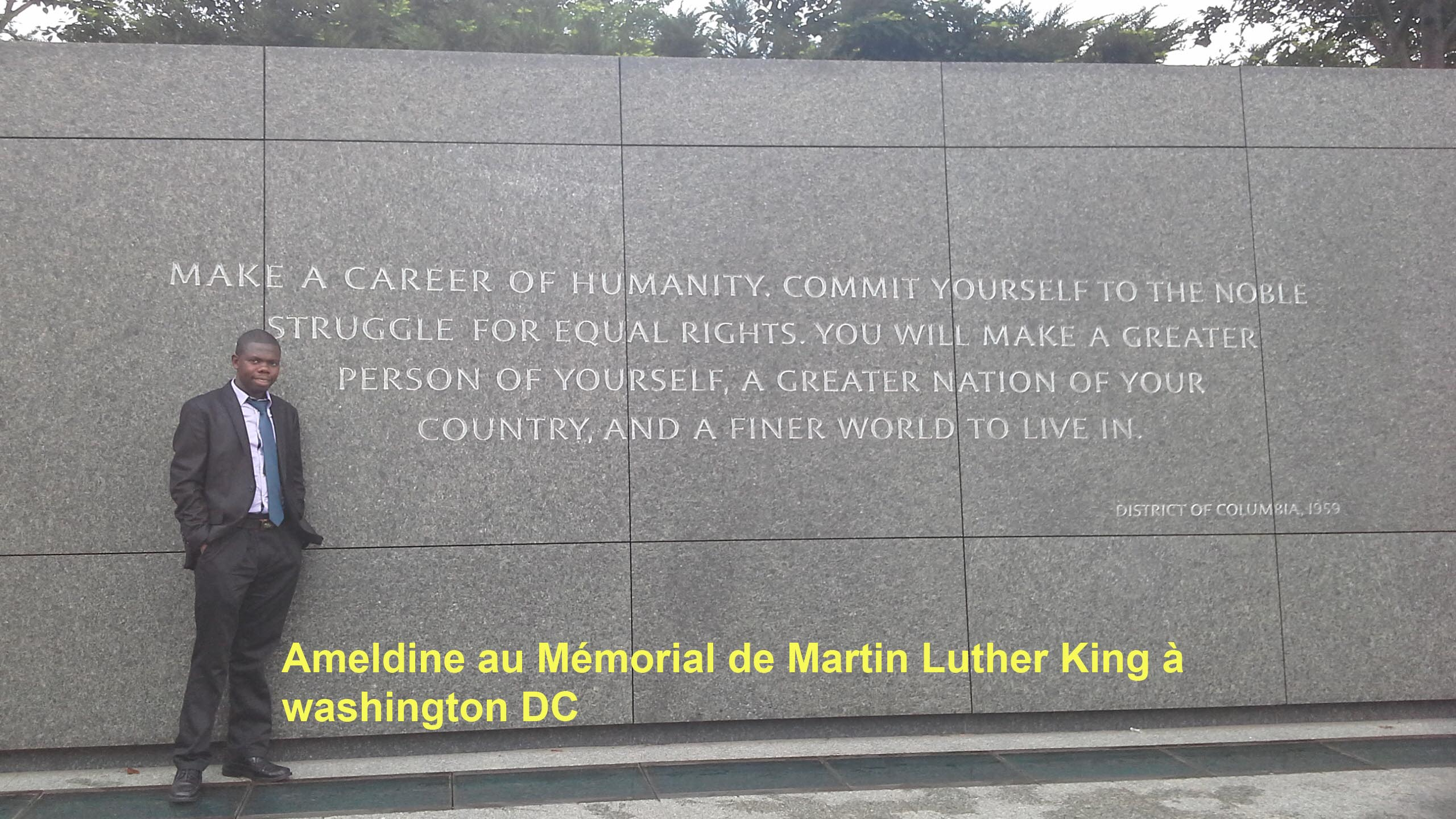 Ameldine au Mmorial de Martin Luther King